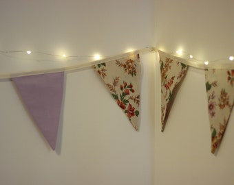 Floral and Lilac Bunting