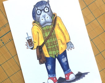 Hipster Hippo
