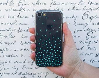 iPhone 7, iPhone 7 Plus, iPhone 5 5s 5c, IPhone 6, 6 Plus, Samsung galaxy case, girlfriend gift case, mint case, pearls phone case