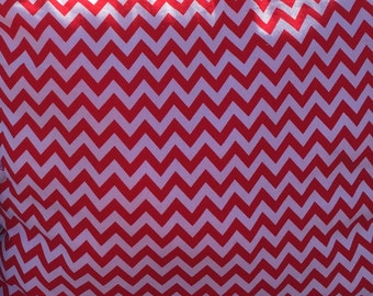 Red Chevron Pillow