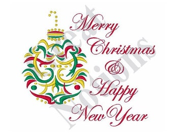 Holiday Wishes - Machine Embroidery Design