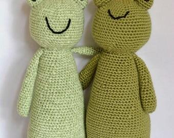 Crochet Frog, Amigurumi Frog, Stuffed Frog, Frog Prince, Francesca & Verde the Frogs