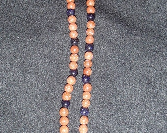Brown and Blue Goldstone Necklace