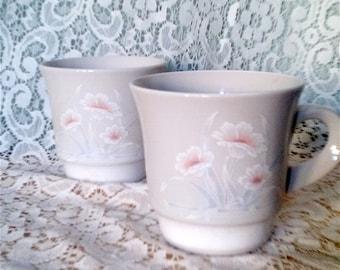 Noritake Cups, Pattern: Ice Flower