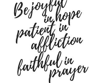 Romans 12:12 Printable