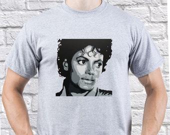 Michael Jackson/ King of Pop/ Mens tshirt/ Best Gift/ Rip Michael Jackson/ Remember Jackson/ Tribute Jackson/ camping tshirt/ gift/ (MJ05)
