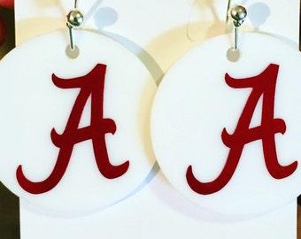University of Alabama Earrings- Roll Tide
