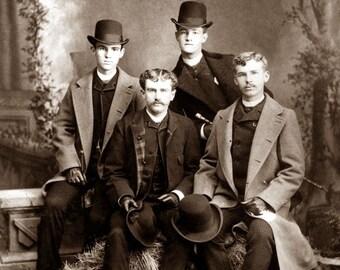 """1886 Hill City Quartette, Austin, Texas Vintage Photograph 8.5"""" x 11"""" Reprint"""