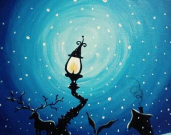 Light Snow - original acrylic painting