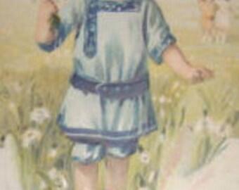 Vintage Embossed Postcard (Child)