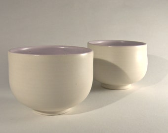 DUO-cups-THE / / Marshmallow / porcelain - white - pink