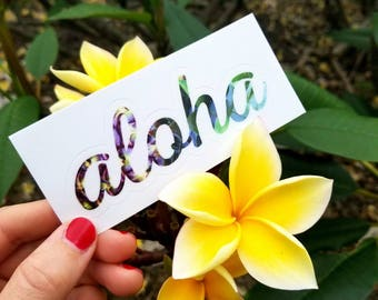 Vinyl Sticker, Aloha Sticker, Hipster Gift for Her, Laptop Sticker, Pineapple Sticker, Laptop Sticker, Boyfriend Gift, Tropical Sticker, 420