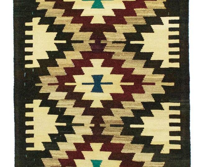 Free Shipping* 142 cm x 83 cm/ 4,65 x 2,72 ft / VINTAGE OUSHAK RUG Kilim Rug Oushak Rug Hand Woven Turkish Rug Vintage Mut Kilim Rug