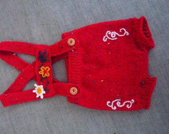 Seek leather pants for girls hand knitted