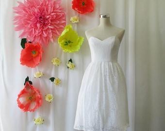 Lace Dress, Eloise, Reception dress, Wedding dress, Bridesmaid dress, white lace dress, lace dress, elegant white lace dress