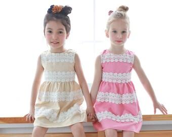 Child Version-Mother & Daughter Matching Dress : Elegant embroidered dress