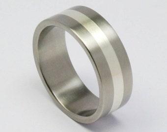 Titanium silver ring.