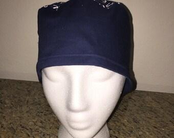Blue w/white anchors scrub cap