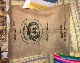 rustic burlap sacks