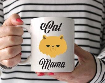 Cat Mama | Cat Mug, Cat Lover, Funny Cat Mug, Crazy Cat Lady, Cat Mom Mug, Crazy Cat Mom, Cat Owner Gift, Cat Obsessed, Kitty Mug