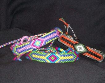 Braided bracelet,Friendship bracelet,Handwoven bracelet, Knotted bracelet, Wrist band, Bracelet bresilien,String bracelet, Macrame,Boho