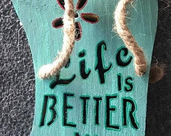 Life is Better at the Beach Slipper