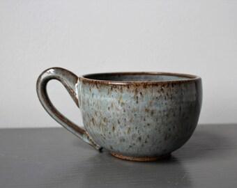 Ceramic Latte Mug Grey Blue