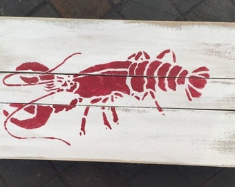 Lobster wall Art, Lobster patio art, Ocean art, Marine art, Coastal Decor