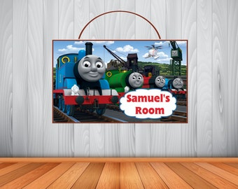 Personalized Thomas Train Sign Wooden Thomas Tank Engine Name Sign Thomas Room Decor