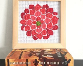 Floral cross stitch kit, flower cross stitch, bloom cross stitch