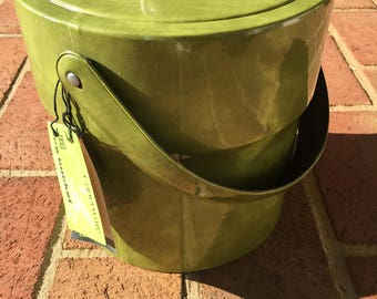 Vintage Ice Bucket| Avocado Green| Carter-ware