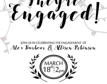 Engagement Invitation - Downloadable