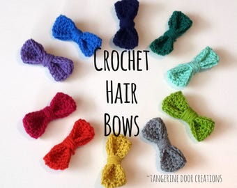 Crochet Hair Bows (3pk)