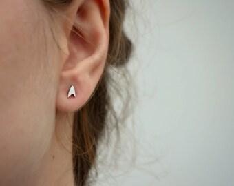 Tiny Star Trek Earrings, 925 Sterling Silver Star Trek Insignia Emblem Jewelry, Sci-fi Space Jewelry, Children Geek Jewelry