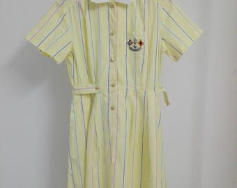 Vintage Burberrys Shirt Dress with Embroidered Logo/used