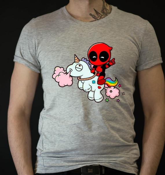 deadpool and unicorn t shirt funny deadpool tshirts. Black Bedroom Furniture Sets. Home Design Ideas