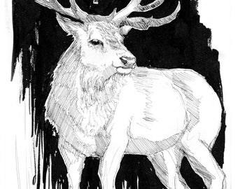 Algiz, Print of original artwork.