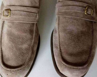 Mens Biege Suede Loafers Size 13 US