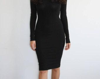 Imani Classic Bodycon Midi Dress