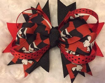 Harley Quinn Stacked Boutique Bow