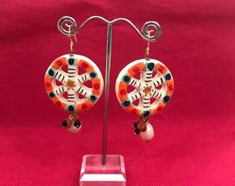 Sicilian cart wheel earrings