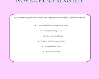 Novel Planning Kit - Write That Book - Organizational Templates