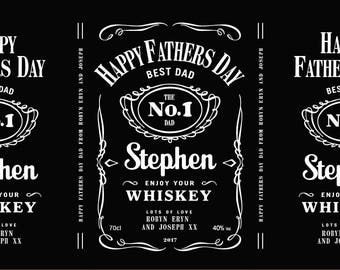 Personalised Fathers Day Jack Daniels Style Whiskey Labels