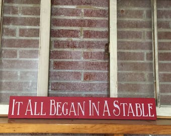 It All Began In Stable