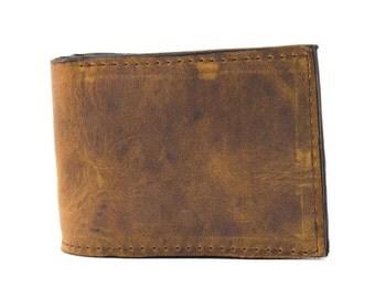 Eastwood Brown Leather Wallet, Mens Wallet, Rustic Wallet, Boho Wallet, Brown Wallet, Gift for Him,  Father's Day Gift, Groomsmen Gift