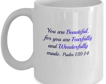 Inspirational Biblical quote on the beauty of human creation ( Psalm 139:14). Human beauty. God's beautiful creation  quotes. God's beauty.