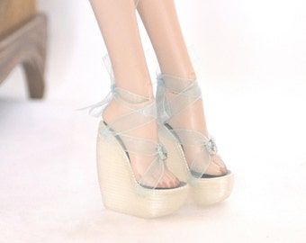 Doll Shoes 16 Inch Fashion Wedge Antoinette body Heels Shoes for Tonner dolls genuine leather shoes