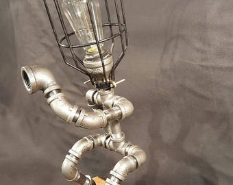 Pipe Lamp - Baseball Catcher
