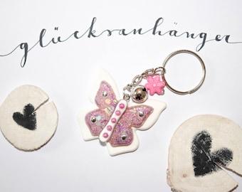 Resin - charm pendant/key Butterfly