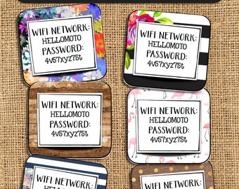 WIFI Network & Password Signs for Guests - ALL 6 DESIGNS!